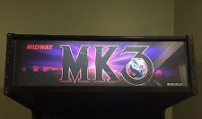 Mortal Kombat 3 Arcade Marquee Midway Translight Header Sign Backlit