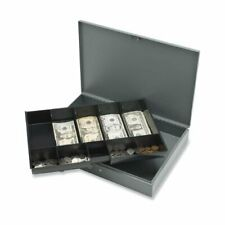 Sparco Cash Box With Tray 5 Bill 5 Coin Steel Gray 2 Height X 105