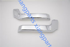 Pair CHROME LOWER Front bumper COVER STRIP for Mitsubishi Pajero 2015-2016