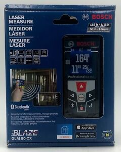 Bosch GLM50CX BLAZE Laser Distance Measurer with Bluetooth 165 ft