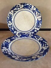 "Two(2) Antique Dedham Pottery 9 5/8"" Iris Plates"