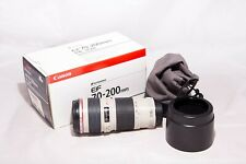 Objetivo Canon EF 70-200 mm L F/4 USM Blanco