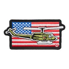 American Flag Military Helicopter Patch, Patriotic US Flag Patches