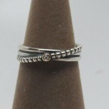 Pandora w/Box Rising Star Diamond Sterling w/14 kt Gold Ring 190243D Sizes Avail