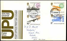 GB FDC 1974 UPU, Stevenage FDI  #C39526