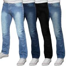 Mens Basic Regular Fit Stretch Jeans Straight Leg Work Denim Big Tall All Waist
