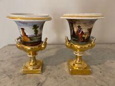 Paris Porcelain Urns - Pair