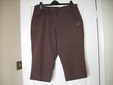 Craghoppers Women's Cropped Capri 3/4 Trousers Brown Size14