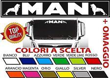 Adesivo MAN Camion Truck x parasole parabrezza vetro cabina Top Quality stickers
