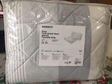 IKEA Knarot King Comforter Set 3-Pieces Gray Stripe 104.544.44