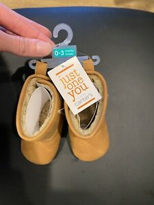 Baby Girl Just One You Tan Boots, 0-3 Months, New
