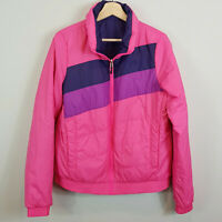 NIKE | Womens Pink & Purple Retro Reversible Jacket [ Size L or AU 14 / US 10 ]