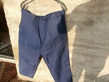 Pantalon de Travail Bleu en PUR COTON taille 58 ...NEUF JAMAIS PORTE !!