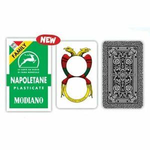 Carte napoletane MODIANO FAMILY Mazzo Di 40 Carte  SCOPA BRISCOLA TRESETTE