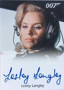 Lesley Langley Autograph from Goldfinger, James Bond Mission Logs