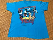 3XL - Vtg 90s Mickey Mouse Pluto Goofy Minnie Single Stitch Cotton T-shirt