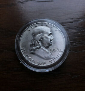 1952-D  SILVER FRANKLIN HALF DOLLAR.  BU CONDITION !!!!