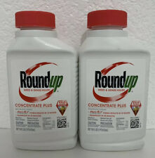 Lot of 2 - Roundup Concentrate Plus Weed & Grass Killer 16oz Bottles NEW (32 oz)