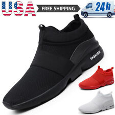 Casual Men's Slip On Sneakers Outdoor Walking Sports Running Tennis Shoes Gym