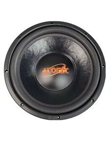 """Old school new Atomic old stock 12"""" D4 ohm 600 watts subwoofer #006"""