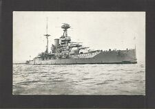 POSTCARD:  H.M.S. WARSPITE - BRITISH ROYAL NAVY BATTLESHIP IN BOTH WORLD WARS