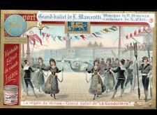 IMAGE LIEBIG / VENISE BALLET de MANZOTTI / LA GONDOLIERE / RECETTE aux TRUFFES