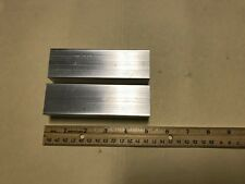 "2 pieces 1x1.5 Aluminum 6061 flat bar 5"" long t6511 Solid NEW Mill Stock"