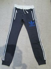 New Men's Adidas Originals Retro Slim Fit Small Navy Sweat Pants