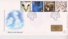 GB Royal Mail FDC Cubierta 2000 anterior & Beyond sello conjunto Ravenglass PMK Pegatina