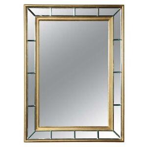 Gold Leaf Beveled Mirror 1940's
