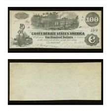 CSA Counterfeit One Hundred Dollars 1862 Ct 39/294 About Uncirculated