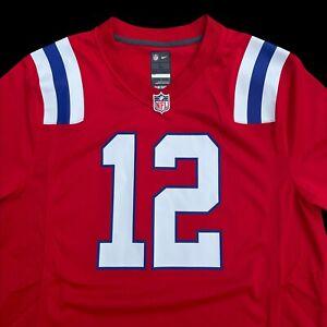 NEW Rare Nike New England Patriots NFL Tom Brady Alternate Red Jersey Mens Large