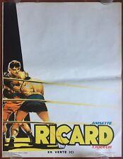Affiche RICARD Anisette Liqueur BOXE Boxeur Boxing Bar Bistrot 50's