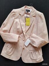 LUISA Spagnoli Chaqueta Blazer en rosado con STRETCH TALLA 38/ IT44/ Uk10 NUEVO