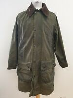 N403 MENS BARBOUR A123 GAMEFAIR GREEN COTTON WAX COAT UK S EU 46 C36/91cm