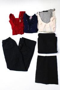 Zara J Crew Womens Short Sleeve Blouses Dress Trousers Red Size 4/XS/S Lot 6