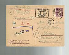 1944 Karow Germany Concentration Camp KZ Postcard Cover Stefan Pivosenko Poland