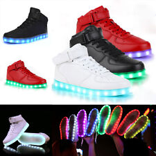 LED Light Up Shoes Trainers Flashing Luminous Sneakers Men Women Dancing Shoe UK
