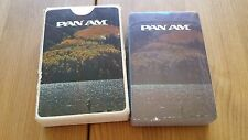 PAN AM PLAYING CARDS WILDERNESS FISHING STARDUST NU-VUE PLASTIC COATED VINTAGE