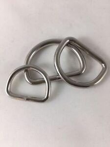 D-Ring D-Ringe Halbrunde Ringe Halbrund Ring silberfarben 20mm 25mm 30mm