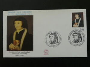 medieval history Queen of Navarra dog FDC 45311