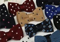 Polka Dot Bowtie Knit Knitted Pre Tied Bow Tie Woven Men's Fashion Multi-Colour