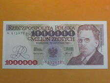Poland Banknote 1000000 zlotych M 1993 UNC ! P-162 1 Pcs