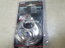 "NEW! SEALED !  UHAUL MAX SECURITY STORAGE LOCK - 2-3/4"" STAINLESS STEEL #02870"