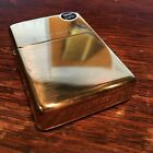 Genuine Zippo high polish solid brass windproof Lighter CASE ONLY No Insert/Box