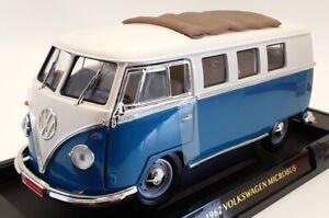 Road Signature 1/18 Scale 92327 - 1962 Volkswagen Microbus - Blue