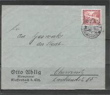Deutsches Reich 1936 GAS Chemnitz nevralgiche Bach timbro speciale paese post