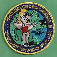 Pa Pennsylvania Fish Commission 1996 Wildlife Conservation Officer Class Patch