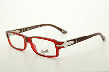 New Authentic Persol 2897-V 822 Red/Brown 52mm Italy Frames Eyeglasses RX