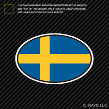 Sweden Oval Sticker Die Cut Decal Swedish Country Code euro SE v7